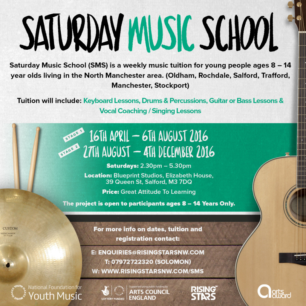 Saturday Music School (SMS) Project by Rising Stars NW CIC